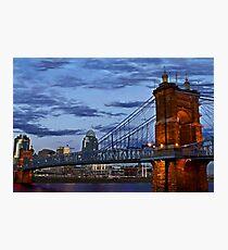 Roebling Bridge Cincinnati Photographic Print