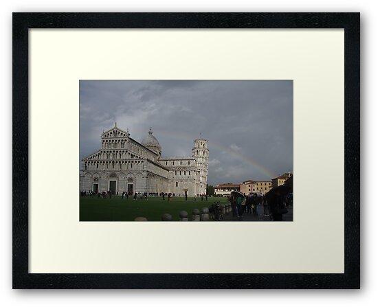 Rainbow Over Pisa Italy by Kitrina Arbuckle