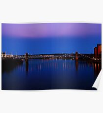 Roebling Connecting Two Cities Poster