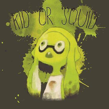 Splatoon Inspired: Squid or Kid by kajatta