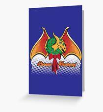 Christmas Pterodactyl Greeting Card
