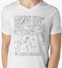 Characters of Bobs Burgers Men's V-Neck T-Shirt