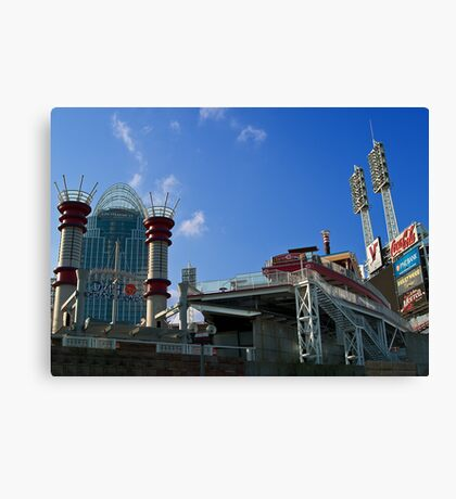 Reds Stadium Cincinnati Canvas Print