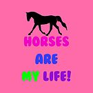 Horses Are My Life iPhone, iPod or iPad Case by Patricia Barmatz