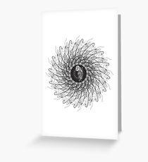 Jellyfish spin 360 Greeting Card