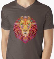 Geometric Lion Men's V-Neck T-Shirt