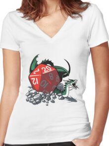 CRITICAL HIT Women's Fitted V-Neck T-Shirt