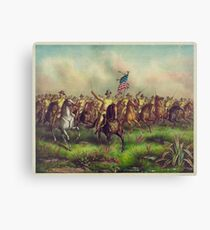 Theodore Roosevelt and the Rough Riders Charging San Juan Hill Canvas Print