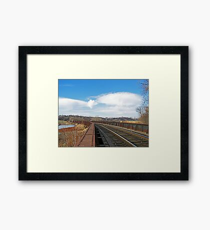 Rivets and Rails Framed Print