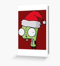 Invader Zim - Santa Gir [Red] Greeting Card