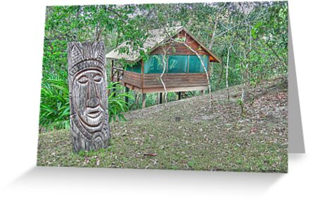 Mayan Sculpture in Mountain Pine Ridge Area - Belize, Central America by Jeremy Lavender Photography