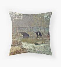 Old Stone Bridge Over the Unami Creek - Sumneytown PA Throw Pillow