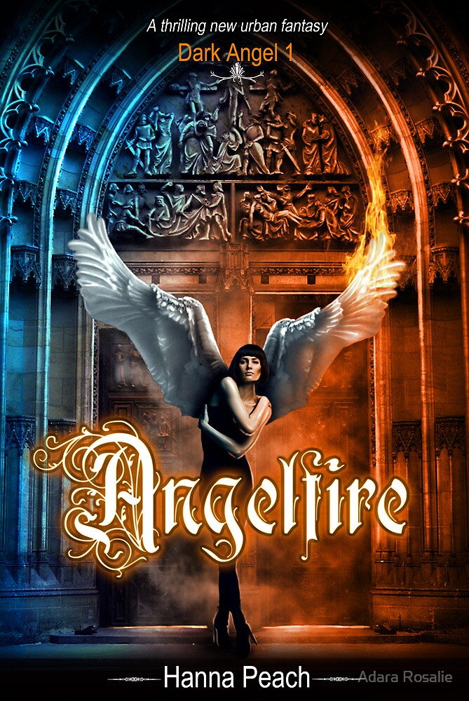 Anglefire book cover for Hanna Peach by Adara Rosalie
