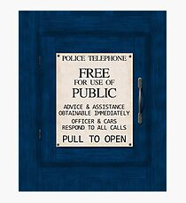 Police Telephone Photographic Print