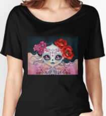 Amelia Calavera - Sugar Skull Women's Relaxed Fit T-Shirt