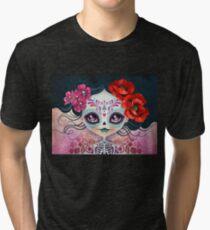 Amelia Calavera - Sugar Skull Tri-blend T-Shirt