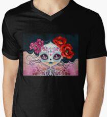 Amelia Calavera - Sugar Skull Men's V-Neck T-Shirt
