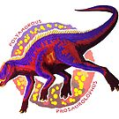 Polyamorous Prosaurolophus (with text) by R.A.  Faller
