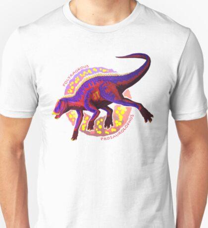Polyamorous Prosaurolophus (with text) T-Shirt