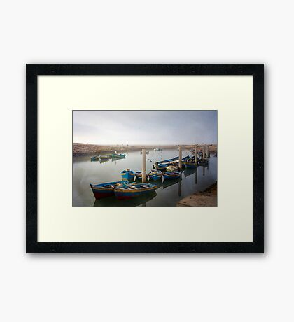 Colourful Fishing Boats in Rabat, Morocco Framed Print