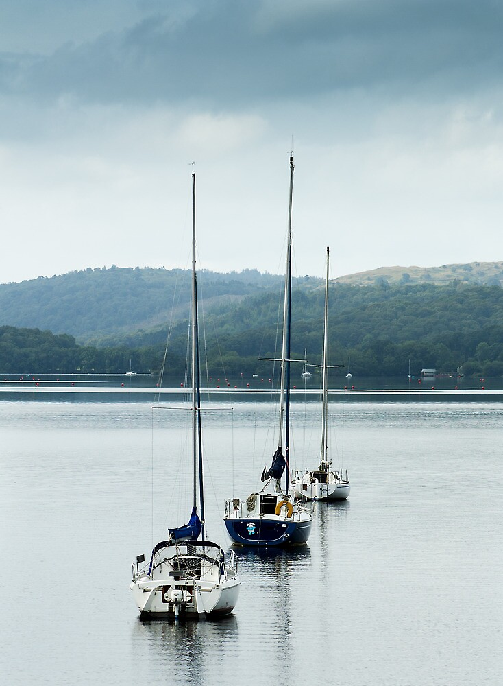Boats on Lake Windermere by BlackIceImages