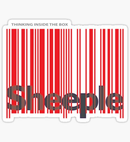 Sheeple InsideBoxRed Sticker