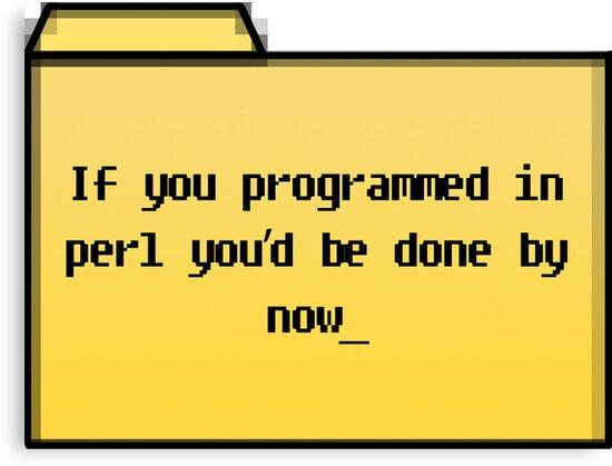Programming in Pearl - Geek Cards by bertadp