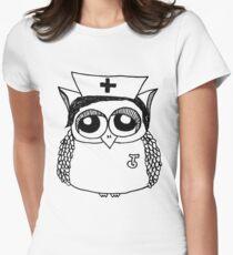 Nurse Owl Women's Fitted T-Shirt