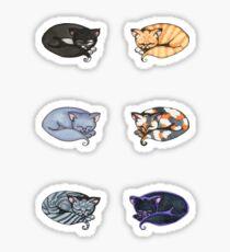 Watercolor Kitties Sticker