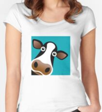 Moo Cow - T Shirt Women's Fitted Scoop T-Shirt