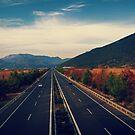 Highway Tripolis - Korinthos by elenkalo