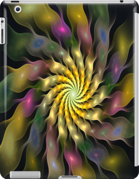 iPad Case - Flower Ripples by Pam Amos