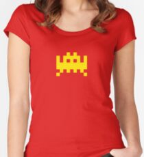 Pixel Invader Women's Fitted Scoop T-Shirt
