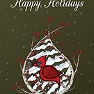 Alexander the Cardinal Greeting Card by Valerie Hartley Bennett