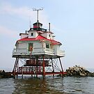Thomas Point Shoal Light by Jack Ryan