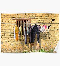 Washing, Yangshuo, Guangxi Poster
