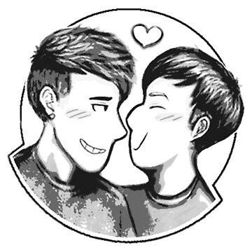 dan & phil - smiley giggly by DoodlesByAdzie