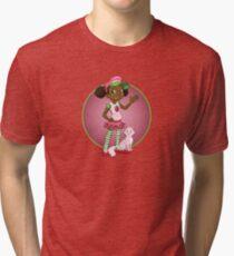 Strawberries in Pink Tri-blend T-Shirt