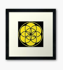 Seed of Life - Yellow Framed Print