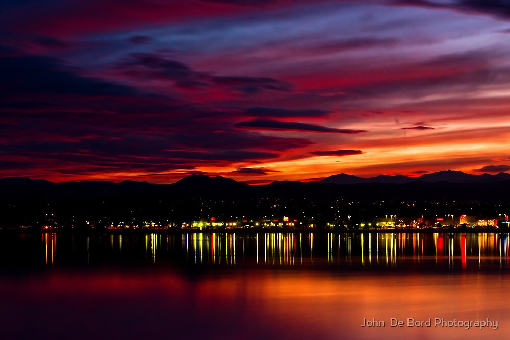 Fire Over The Rockies by John  De Bord Photography