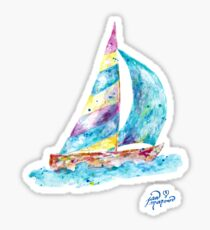 Sailboat no splots by Jan Marvin Sticker
