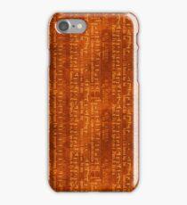 Vintage Music on Brown iPhone Case/Skin