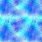 Soft Blue Patterned Glass by pjwuebker