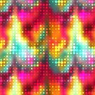 Rainbow Dots Against Colors by pjwuebker