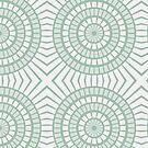 Mint Green Tiles Circles by pjwuebker