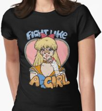Sailor Moon - Fight Like A Sailor (Sailor Venus) Women's Fitted T-Shirt