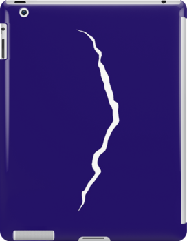 Doctor Who Crack in the Universe, White on Blue by bstaylor