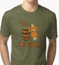 St. Anky Beer Tri-blend T-Shirt