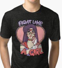 Sailor Moon - Fight Like A Sailor (Sailor Mars) Tri-blend T-Shirt