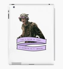 Fear is Poison iPad Case/Skin